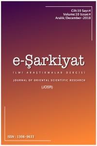 e-Şarkiyat İlmi Araştırmaları Dergisi/Journal of Oriental Scientific Research (JOSR)