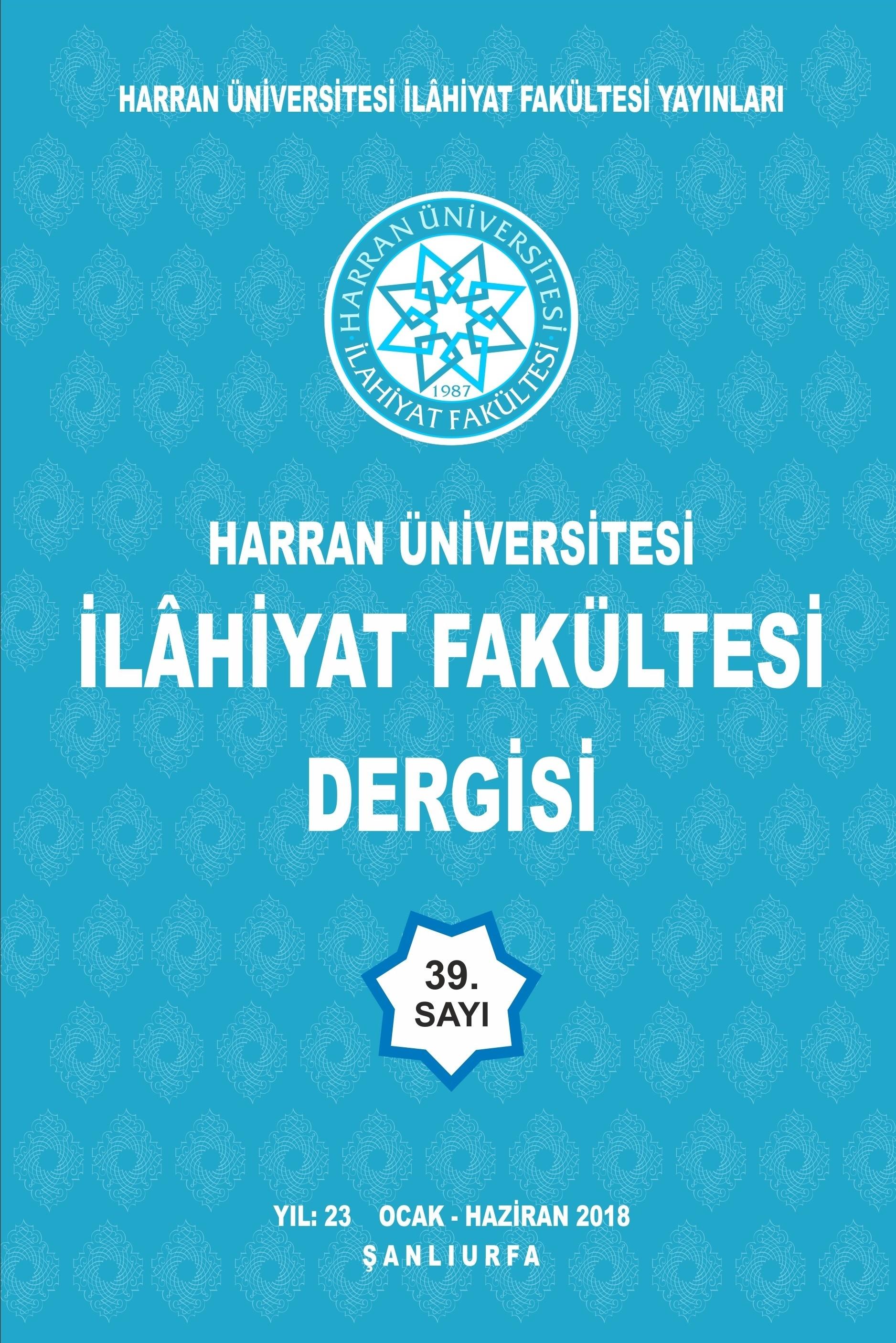 Harran Üniversitesi İlahiyat Fakültesi Dergisi